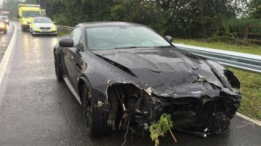 Aston Martin V12 Vantage Crashed