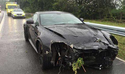 Aston Martin V12 Vantage Crashed